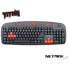 Teclado Gaming Multimedia USB Netmak NM-TITAN