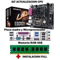 Kit Actualizacion Pc Amd Mother Micro 4Gb Memoria + Instalacion Full