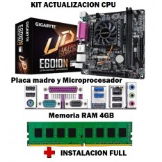 Kit Actualizacion Pc Amd Mother Micro 4Gb Memoria + Instalacion Full