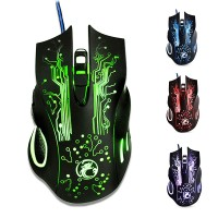 Mouse Gamer Mecanico 6D Luz Led Retroiluminado