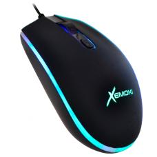 Mouse Gamer USB Rubber 4D RGB Croma Xemoki XK-GM046