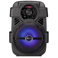 "PARLANTE KARAOKE QFX Bluetooth 8"" Portátil Radio Usb Mp3 Leds"