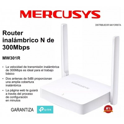 Router Inalámbrico Mw301r Mercusys Tp-link 2 antenas 300mbps