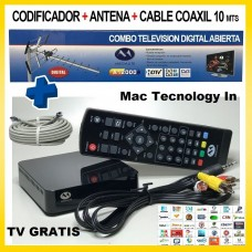 TV GRATIS TDA KIT DECODIFICADOR HD + ANTENS YAGI + CABLE