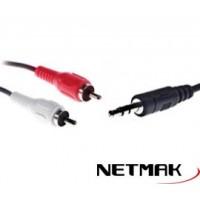 Cable Plug  a 2 RCA 3M